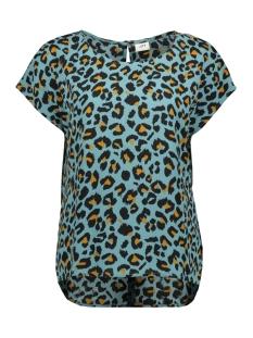 Jacqueline de Yong T-shirt JDYUTRECHT MILO TRICK S/S TOP WVN 15187967 North Atlantic/LEO
