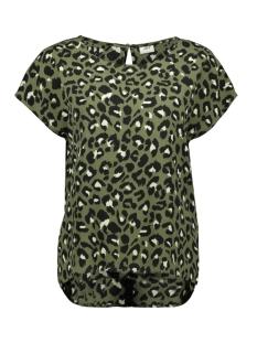 Jacqueline de Yong T-shirt JDYUTRECHT MILO TRICK S/S TOP WVN 15187967 Four Leaf Clove/LEO