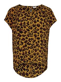 Jacqueline de Yong T-shirt JDYUTRECHT MILO TRICK S/S TOP WVN 15187967 Golden Brown/LEO