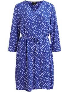 Object Jurk OBJBAY 3/4 DRESS AOP SEASONAL 23029368 Clematis Blue/MARIE AOP