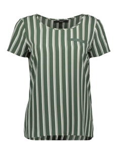 Vero Moda T-shirt VMSASHA SS TOP W. POCKET A COLOR 10195725 Laurel Wreath/SNOW WHITE