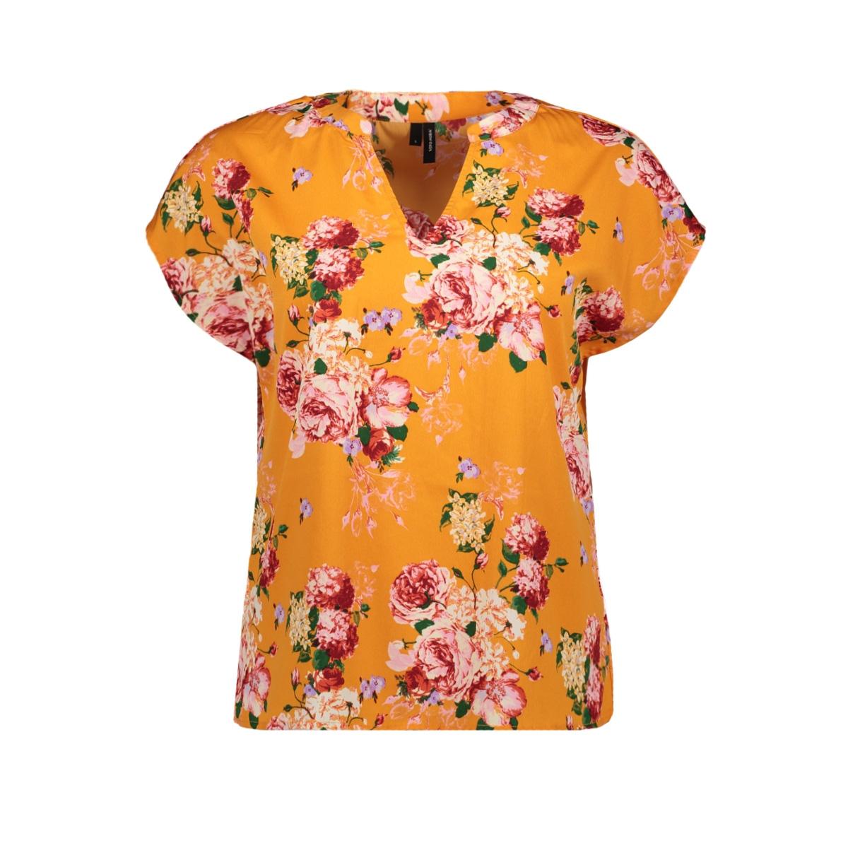 vmane s/s v-neck top exp 10224178 vero moda t-shirt sun orange/ane