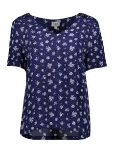 woven top s/s t1105 saint tropez t-shirt 9242 ribbon