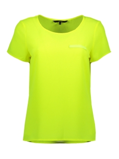 Vero Moda T-shirt VMSASHA SS TOP W. POCKET A COLOR 10195725 Safety Yellow