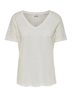 jdystinne s/s lace top jrs 15183309 jacqueline de yong t-shirt cloud dancer