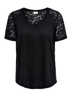 Jacqueline de Yong T-shirt JDYSTINNE S/S LACE TOP JRS 15183309 Black