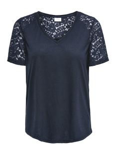 Jacqueline de Yong T-shirt JDYSTINNE S/S LACE TOP JRS 15183309 Navy Blazer