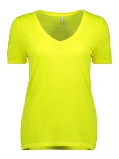 onlnessa s/s v-neck reg top cs jrs 15194055 only t-shirt neon yellow