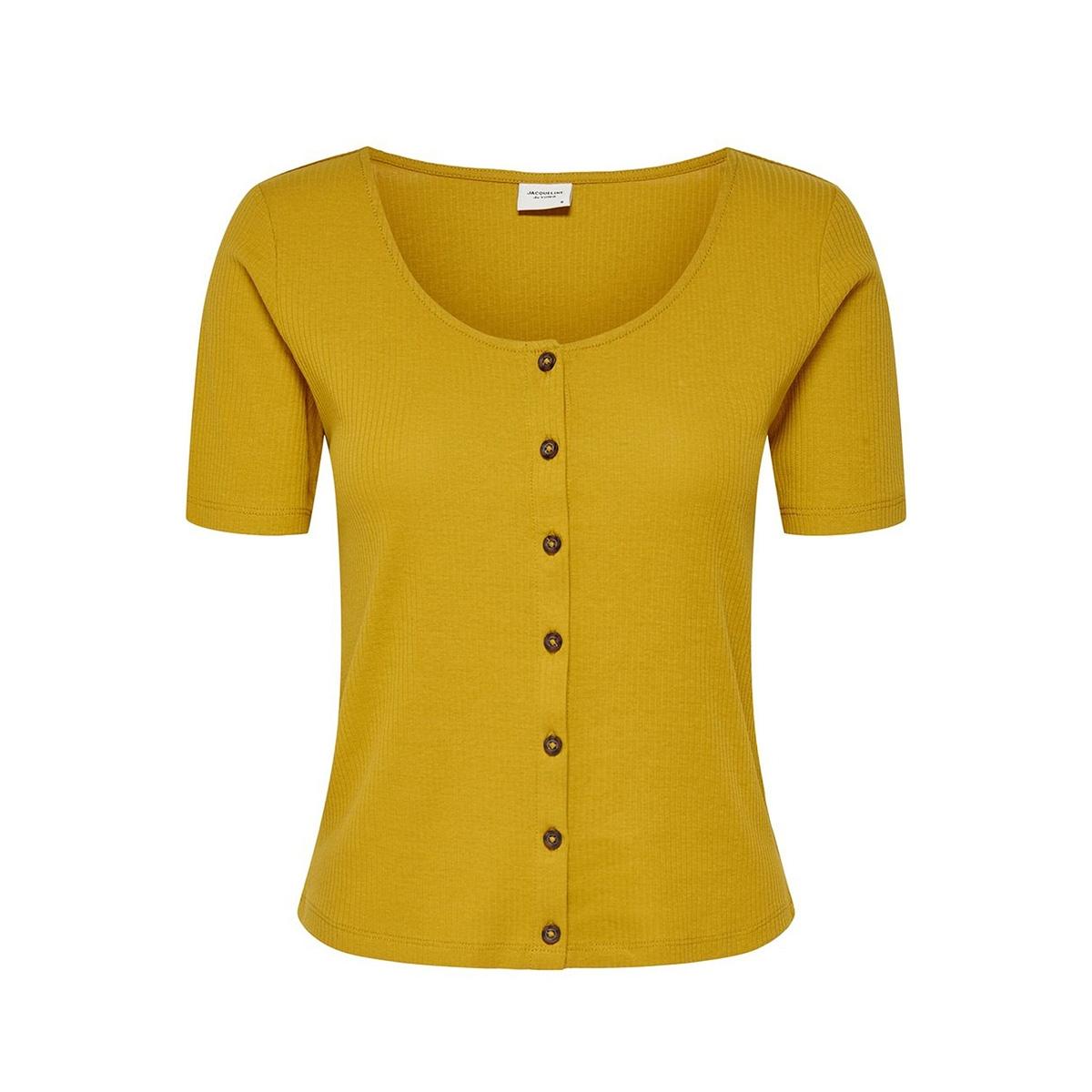 jdynevada treats s/s button top jrs 15179979 jacqueline de yong t-shirt harvest gold