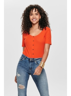 jdynevada treats s/s button top jrs 15179979 jacqueline de yong t-shirt orange.com