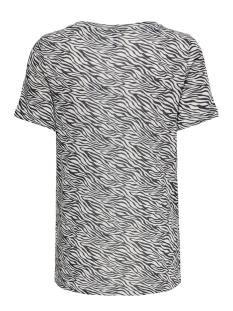 onlblaze s/s v-neck aop top jrs 15182748 only t-shirt cloud dancer/zebra