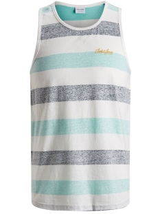 Jack & Jones T-shirt JORSIDER TANK TOP 12155565 Aqua Sky/REG