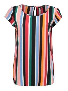 Only T-shirt ONLNOVA LUX AOP S/S TOP 7 CASH  WVN15183349 Cloud Dancer/CASH STRIPES