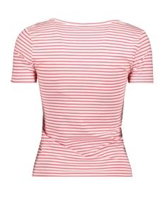 onlbella s/s placket top jrs 15180879 only t-shirt cloud dancer/geranium