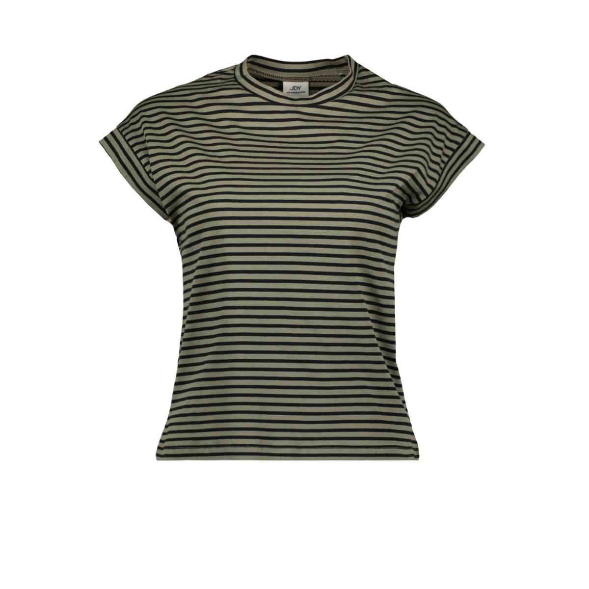 jdyditte s/s stripe top denim jrs 15181966 jacqueline de yong t-shirt dusty olive/stripes