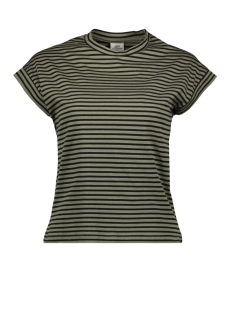 Jacqueline de Yong T-shirt JDYDITTE S/S STRIPE TOP DENIM JRS 15181966 Dusty Olive/STRIPES