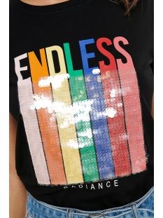 onlshawna reg  s/s sequns top box c 15182347 only t-shirt black/endless