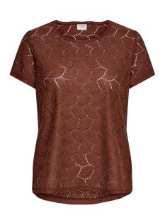 Jacqueline de Yong T-shirt JDYTAG S/S LACE TOP JRS RPT2 NOOS 15152331 Smoked Paprika
