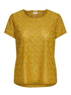 Jacqueline de Yong T-shirt JDYTAG S/S LACE TOP JRS RPT2 NOOS 15152331 Harvest Gold