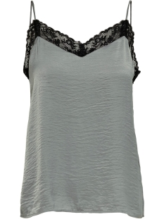 Jacqueline de Yong Top JDYLOLLY LACE SINGLET WVN 15180464 Sharkskin/BLACK LACE