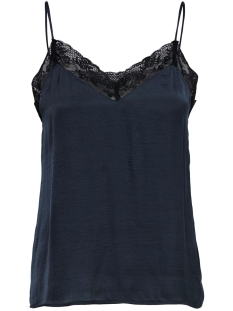 jdylolly lace singlet wvn 15180464 jacqueline de yong top sky captain/black lace