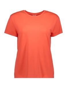 Jacqueline de Yong T-shirt JDYNIKI S/S TOP JRS EXP 15197546 Neon Peach