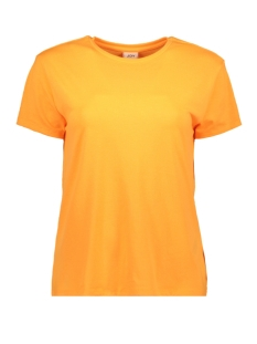 Jacqueline de Yong T-shirt JDYNIKI S/S TOP JRS EXP 15197546 Neon Orange