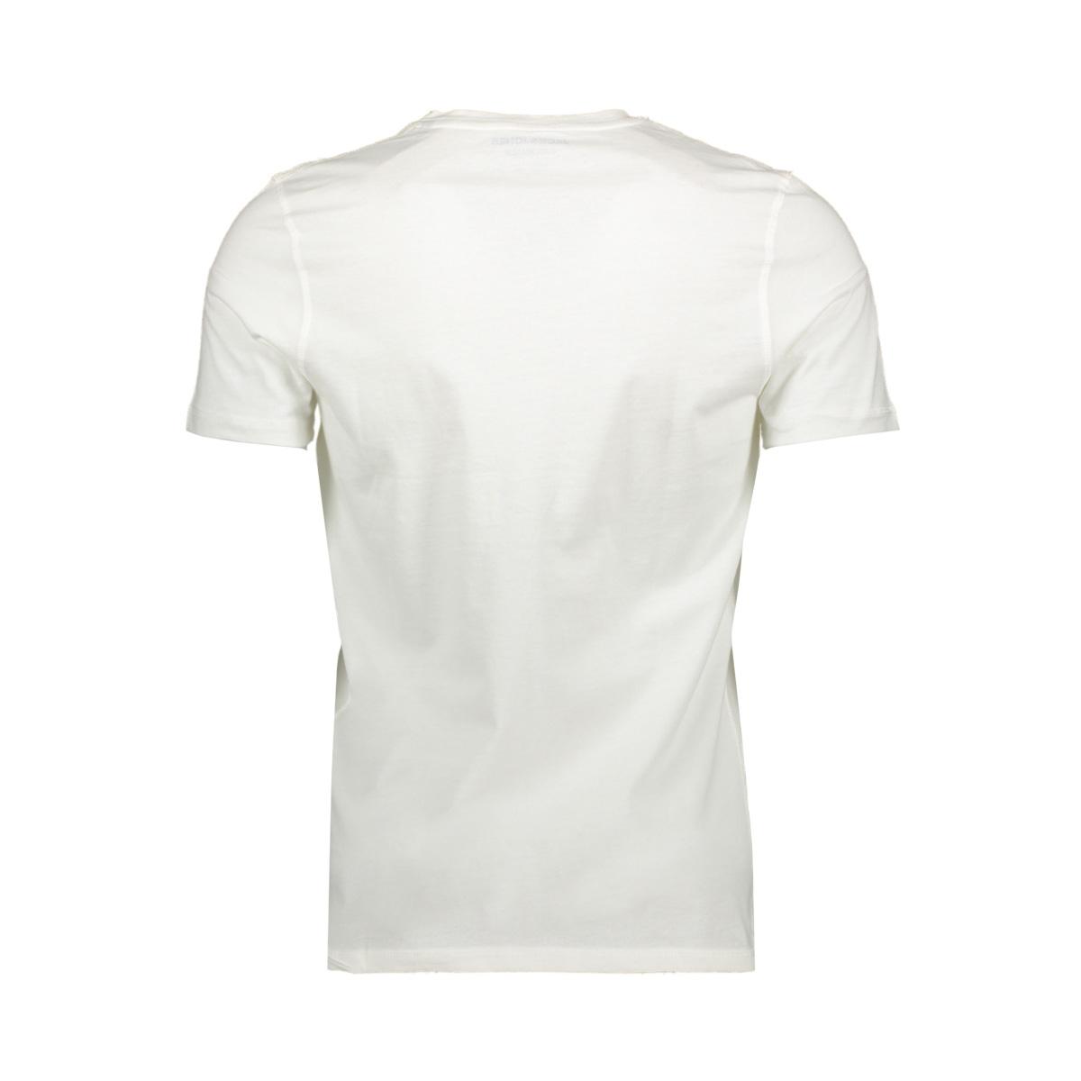 jorrival tee ss crew neck 12155596 jack & jones t-shirt cloud dancer/slim