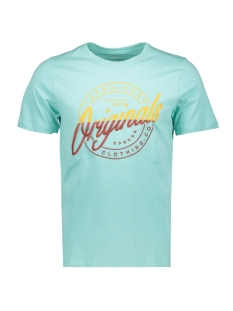 jorrival tee ss crew neck 12155596 jack & jones t-shirt aqua sky/slim