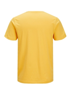 jorrival tee ss crew neck 12155596 jack & jones t-shirt yolk yellow/slim
