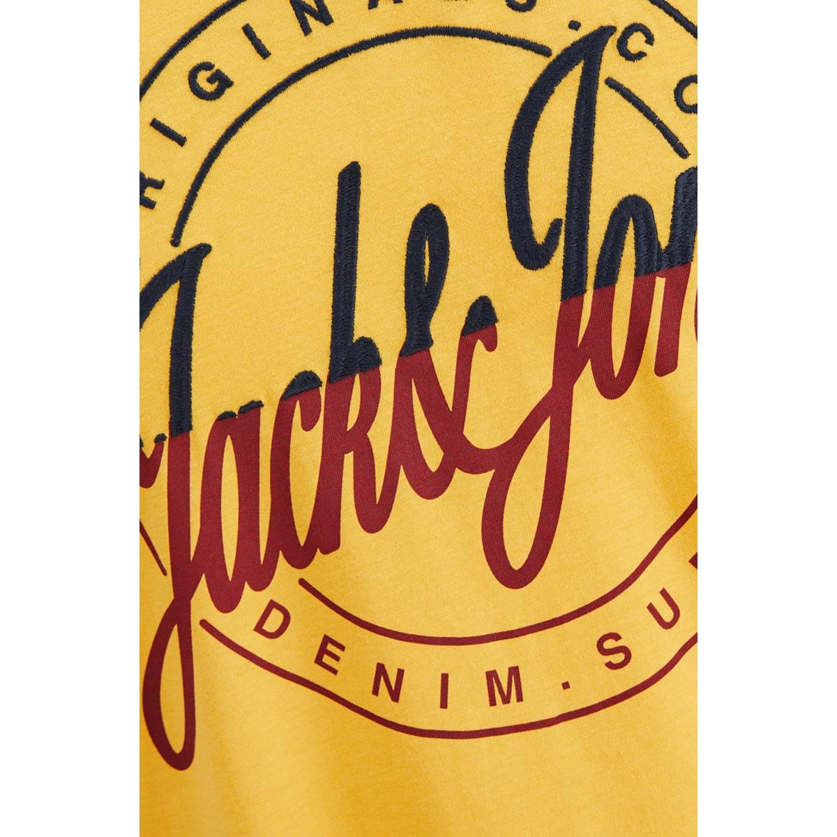 jorrival tee ss crew neck 12155596 jack & jones t-shirt yolk yellow/slim