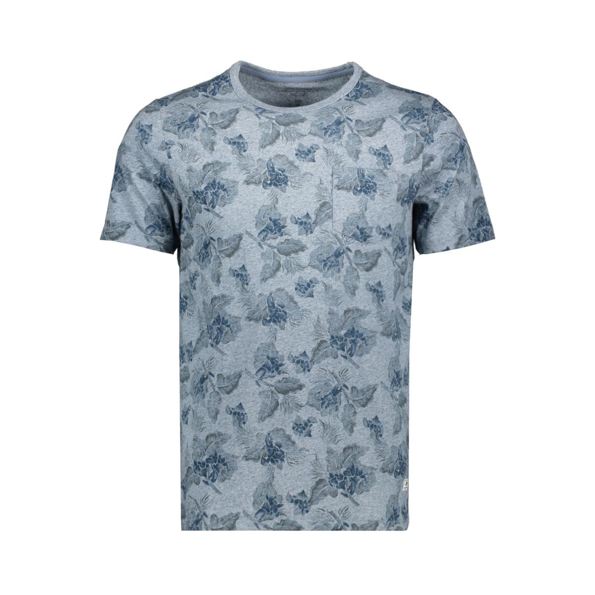 jprjeremy blu. tee ss crew neck 12156368 jack & jones t-shirt faded denim/melange
