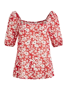 Vila T-shirt VIJASMIN S/S TOP /RX 14055776 Lollipop/FLOWER PRINT
