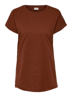 Jacqueline de Yong T-shirt JDYLOUISA S/S FOLD UP TOP JRS NOOS 15157925 Smoked Paprika