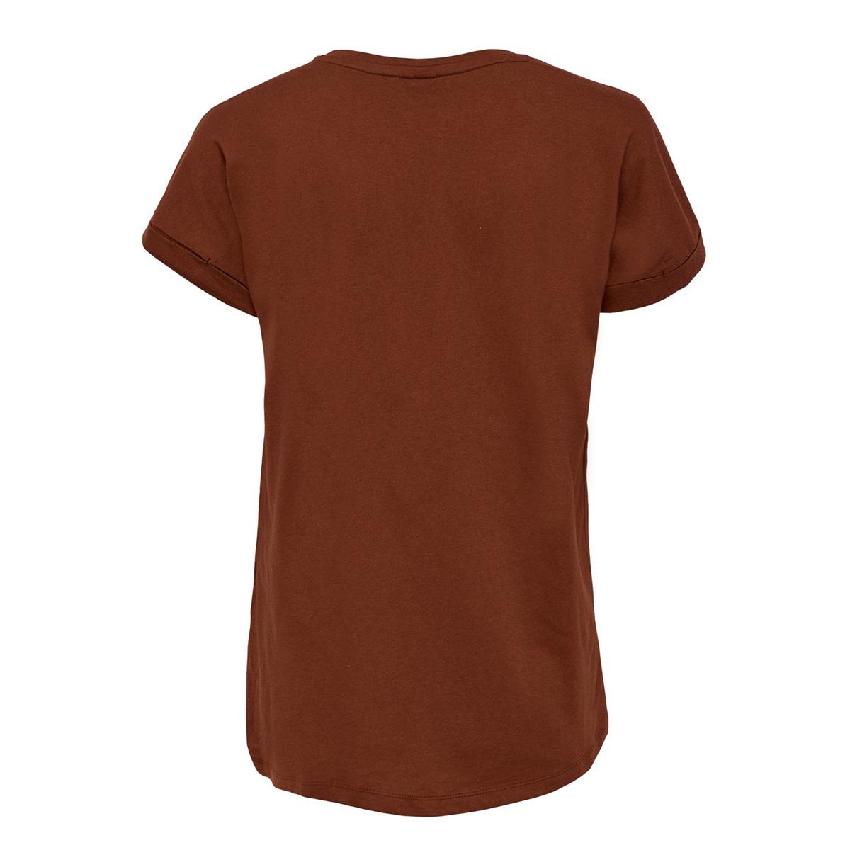 jdylouisa s/s fold up top jrs noos 15157925 jacqueline de yong t-shirt smoked paprika