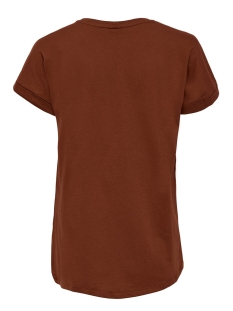 jdylouisa s/s fold up top jrs noos 15157925 jacqueline de yong t-shirt smoked paprika