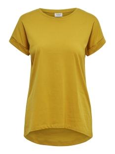 Jacqueline de Yong T-shirt JDYLOUISA S/S FOLD UP TOP JRS NOOS 15157925 Harvest Gold