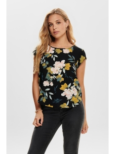 Only T-shirt onlVIC SS AOP TOP NOOS WVN 15161116 Black/FAYE FLOWER