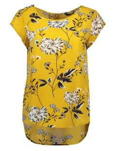Only T-shirt onlVIC SS AOP TOP NOOS WVN 15161116 Chai Tea/YELLOW FLOWER