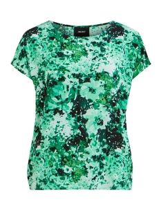 Object T-shirt OBJSANA URBAN SS TOP 104 DIV 23031198 Fern Green/AOP