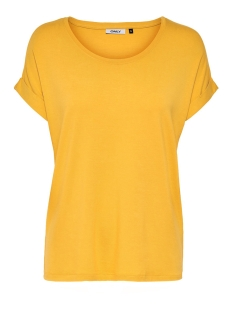Only T-shirt ONLMOSTER S/S O-NECK TOP NOOS JRS 15106662 Golden Yellow