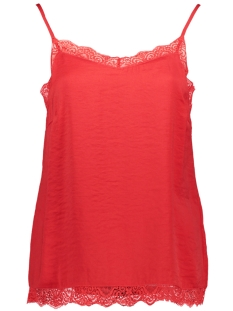 Vila Top VICAVA LACE SINGLET - FAV 14045939 Racing Red