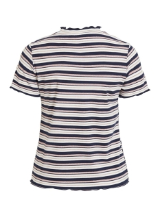 vidrala s/s t-shirt 14054002 vila t-shirt navy blazer/w. cloud dancer