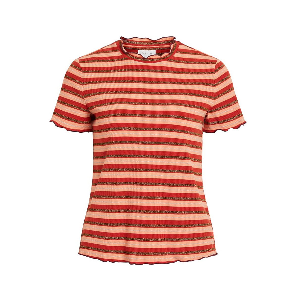 vidrala s/s t-shirt 14054002 vila t-shirt canyon sunset/w. copper