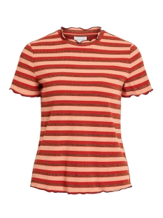 Vila T-shirt VIDRALA S/S T-SHIRT 14054002 Canyon Sunset/W. COPPER