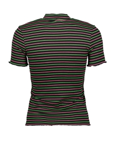 onlmay s/s sleeve t-shirt jrs 15198505 only t-shirt black/green and