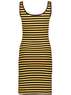 onltracey s/l dress jrs 15195756 only jurk black/neon red