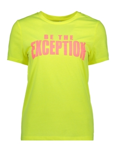 Only T-shirt ONLVALARIE S/S TOP JRS 15195717 Neon Yellow/EXCEPTION