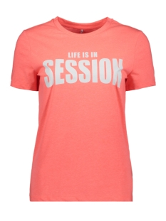 Only T-shirt ONLVALARIE S/S TOP JRS 15195717 Neon Pink/SESSION