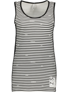 Zoso Top SHIRLEY SINGLET WITH LOGO 193 WHITE/BLACK